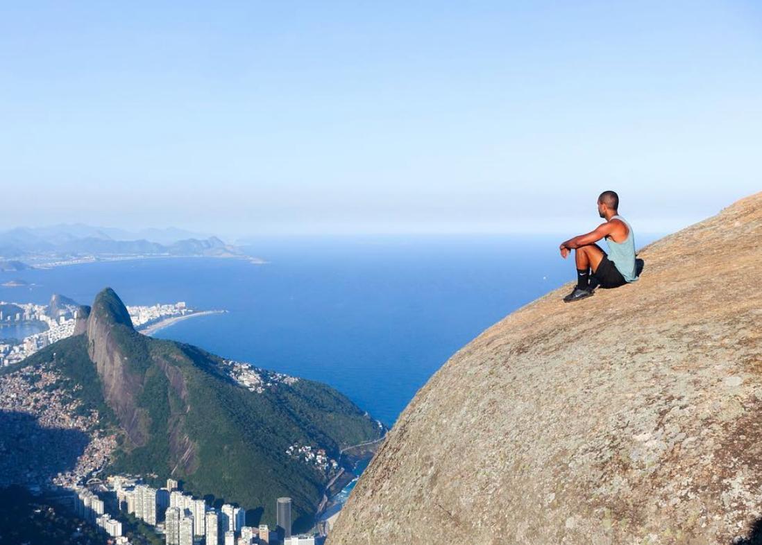 Fui ali ver o mar, ao Rio!